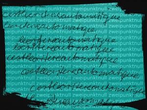 Ecriture bearbeitet zweipunktnull