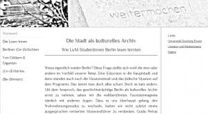Website zur LuM-Berlin-Exkursion 2014