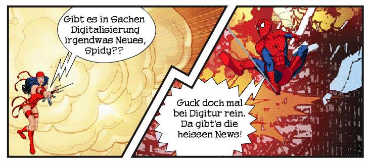 Digitur goes Comic mit Marvel