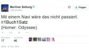 Der Screenshot zeigt: Auch die Berliner Zeitung twitterte fleißig mit.