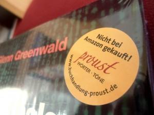Nicht nur ein Werbegag: Die Aufkleber der Essener Buchhandlung Proust. CC-BY-NC-SA 4.0 Olga Fink