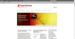 Screenshot: de.hypotheses.org am 16.05.2015
