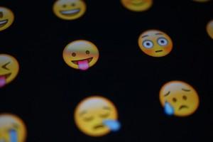 Auswahl von Emojis.