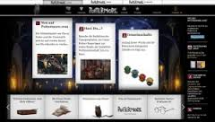 Screenshot der deutschen Pottermore-Startseite www.pottermore.com/de