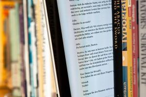 Ebook zwischen Büchern