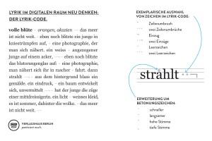 Der Lyrik-Code verbessert das Leseerlebnis. ©Verlagshaus Berlin