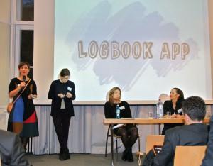 Das Team der Universität St. Gallen präsentiert die LogBook App. CC-BY-NC-SA 4.0 Sina Adam