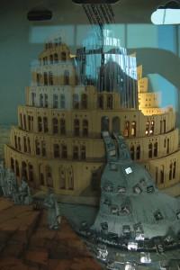 Turmbau zu Babel im Deutschen Buch- und Schriftmuseum. CC0 Aileen Singhof