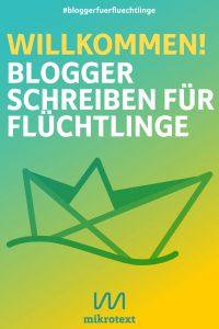 Cover - Willkomen! Blogger schreiben für Flüchtlinge
