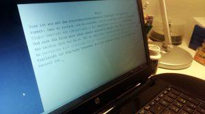 Mit OverType kann man sich in Erinnerung rufen, wie das Schreiben mit der Schreibmaschine war. CC-BY-NC-SA 4.0 Daniela Kratz