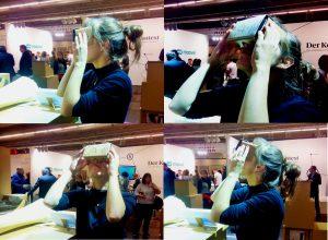 Redakteurin Kristina bei ihrer ersten virtuellen Expedition auf der FBM1