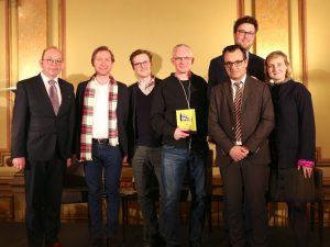 Preisträger mit Jury und Bloggerpaten