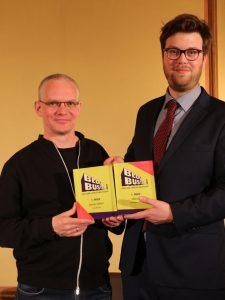 Tosten Seifert mit seinem Blogger-Paten Tilmann Winterling von 54books, Foto: Blogbuster